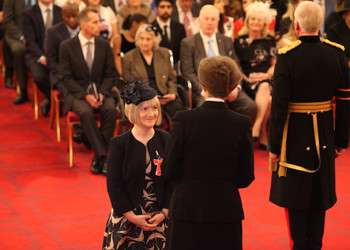 Hertfordshire head teacher, Claire Robins, receives OBE