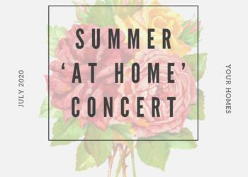 Sensational Summer 'at home' Concert
