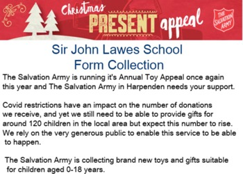 Salvation Army Christmas Present Appeal 2020