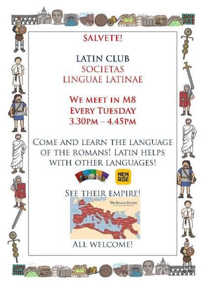 Latin Club Poster